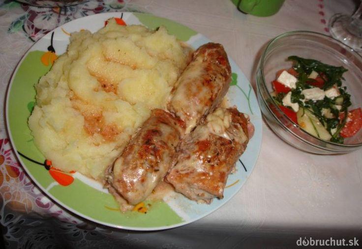 Bravčové mäsko so syrom a šunkou