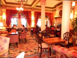 Fairmont Empress Hotel tea parlor, Victoria, BC. (Went there several times with family and once with a group of high school friends!)