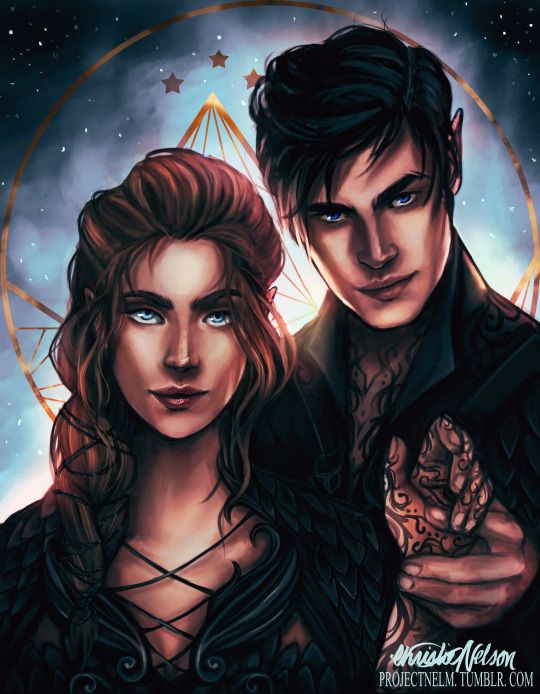 My favourite Feyre and rhysand art EVER by projectnelm