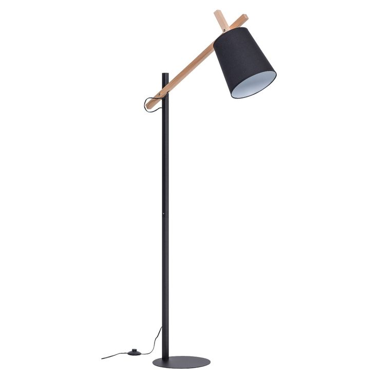 The thoroughly modern Muse Floor Lamp - Black by Vox is a gorgeous focal point that will enhance any contemporary living area or bedroom