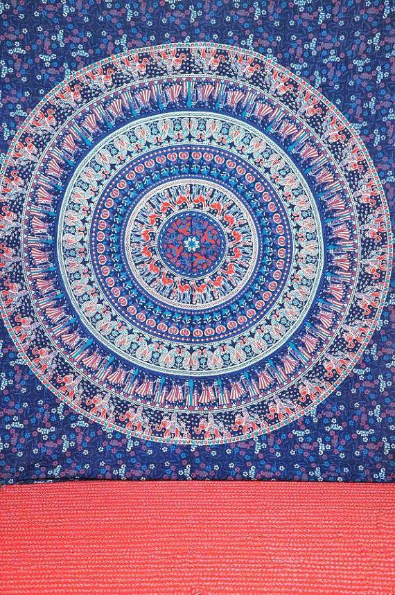 Hippie Wandteppiche Wand hängen Mandala von JaipurHandloom auf Etsy