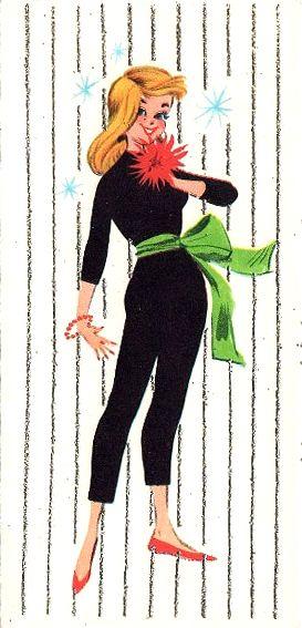 50s Vintage Christmas Card