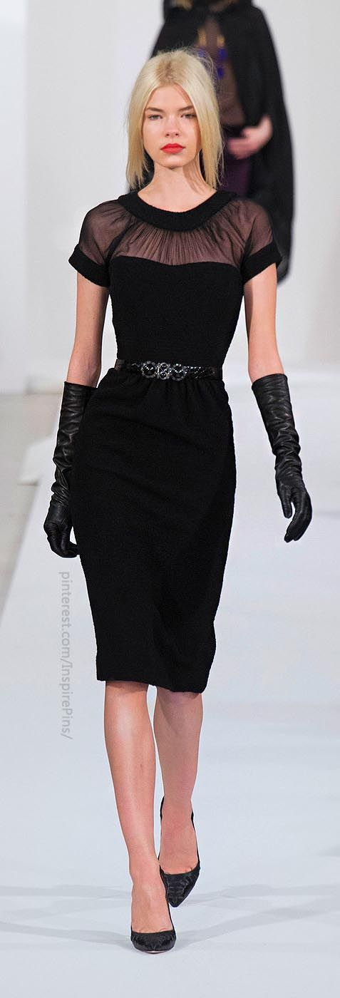 Every Lady Should Have At Least One Black Dress - New York Fall 2013 - Oscar de la Renta