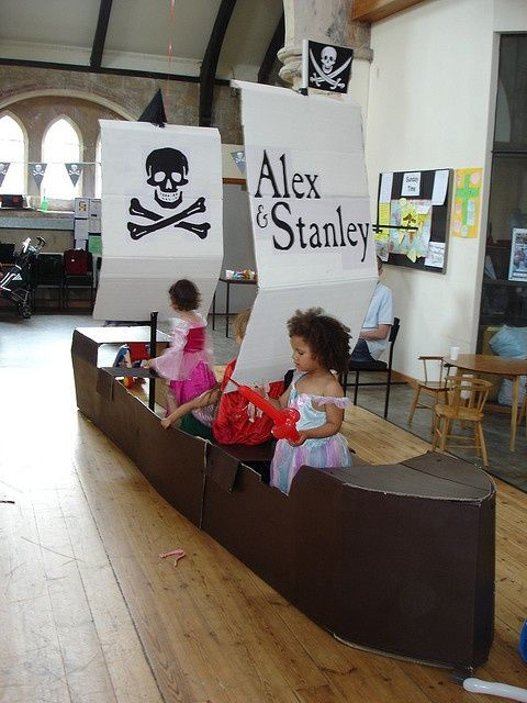 cardboard box pirate ship