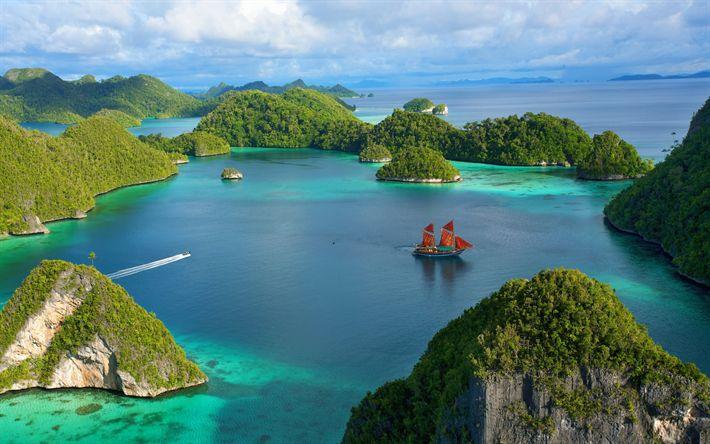 Hämta bilder Indonesien, bay, ocean, öar, tropikerna