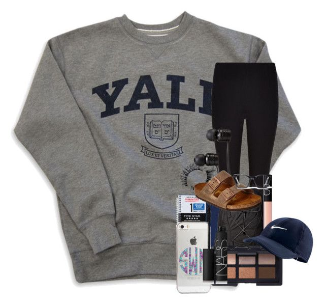"""yaleeeeee"" by kendallmichele ❤ liked on Polyvore featuring Winser London, The North Face, NARS Cosmetics, Vans, Birkenstock, Agent 18, NIKE and Spitfire"