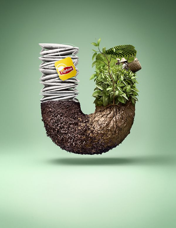 Publicidad té Lipton. #creatividad advertising, art, beautiful, Commercial, digital, Graphic Design, Incredible, Photography, photoshop, print