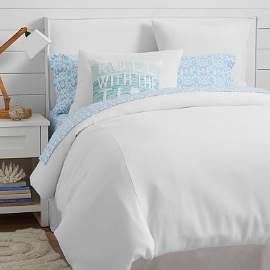 Kelly Slater Organic Waffle Duvet Cover + Sham // Bring casual, seaside style to your space with this textured organic cotton duvet cover, exclusively designed with 11-time world surfing champ Kelly Slater.