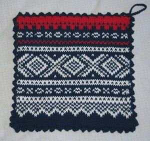 Norwegian Marius pattern: Potholders (Sivknivklestativ)