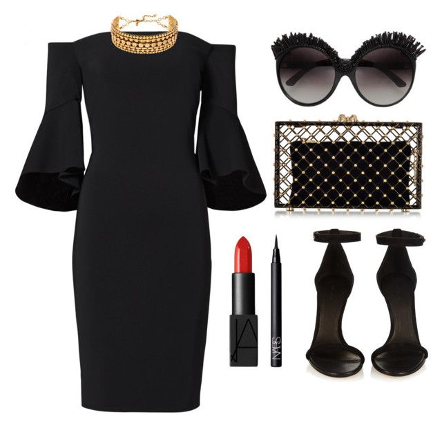 """""""Untitled #163"""" by longarina ❤ liked on Polyvore featuring Laundry by Shelli Segal, Charlotte Olympia, Erickson Beamon, Isabel Marant and NARS Cosmetics"""