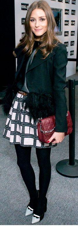 Coat – Armani, Purse – Christian Dior, Skirt – Tibi (feb 2013)