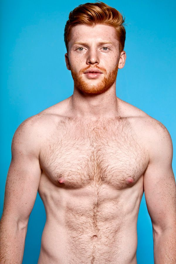 Handsome ginger men cocks