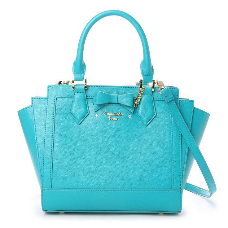 Samantha Thavasa サマンサベガ サマンサベガ リボンパスケース付きバッグ 中(エメラルドグリーン) -靴とファッションの通販サイト ロコンド