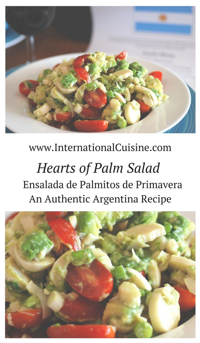 This hearts of palm salad recipe is quick, easy and awesome!  Hearts of palm is a lovely salad ingredient that is not all that common here in the USA.  I could eat this everyday! This salad is often served at an authentic Argentina asado for good reason. Delicious!