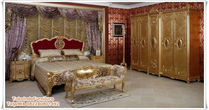 Kamar Set Klasik French Gold Mewah Terbaru - http://www.tokoindofurniture.com/kamar-set-klasik-french-gold.html