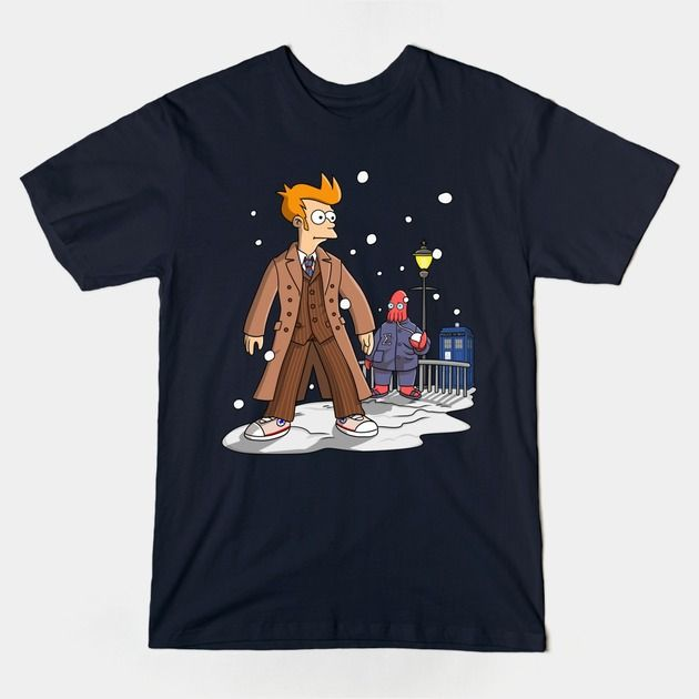 Futurama Doctor Who Shirt | Futurama Doctor Who shirt. This awesome sci-fi mashup features Doctor Fry standing outside the TARDIS and Zoidberg as an Ood. | Futurama Doctor Who shirt. This awesome sci-fi mashup features Doctor Fry standing outside the TARDIS and Zoidberg as an Ood. | Visit http://shirtminion.com/2015/03/futurama-doctor-who-shirt/