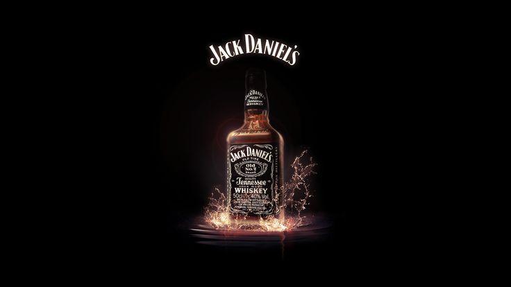 jack daniels, виски, брызги, бутылка, выпивка 1920x1080