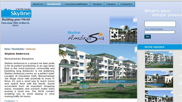 Skyline Builders Bangalore develops Ambrosia for people who want to work near and stay close
