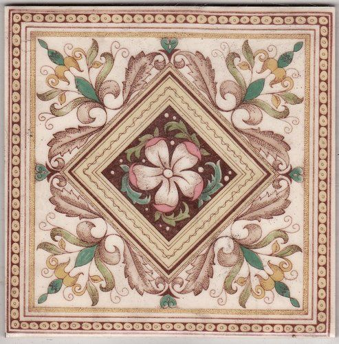 Victorian Antique Ceramic Tile