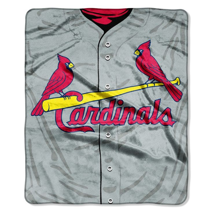 St. Louis Cardinals 50x60 Royal Plush Raschel Throw Blanket - Jersey Design
