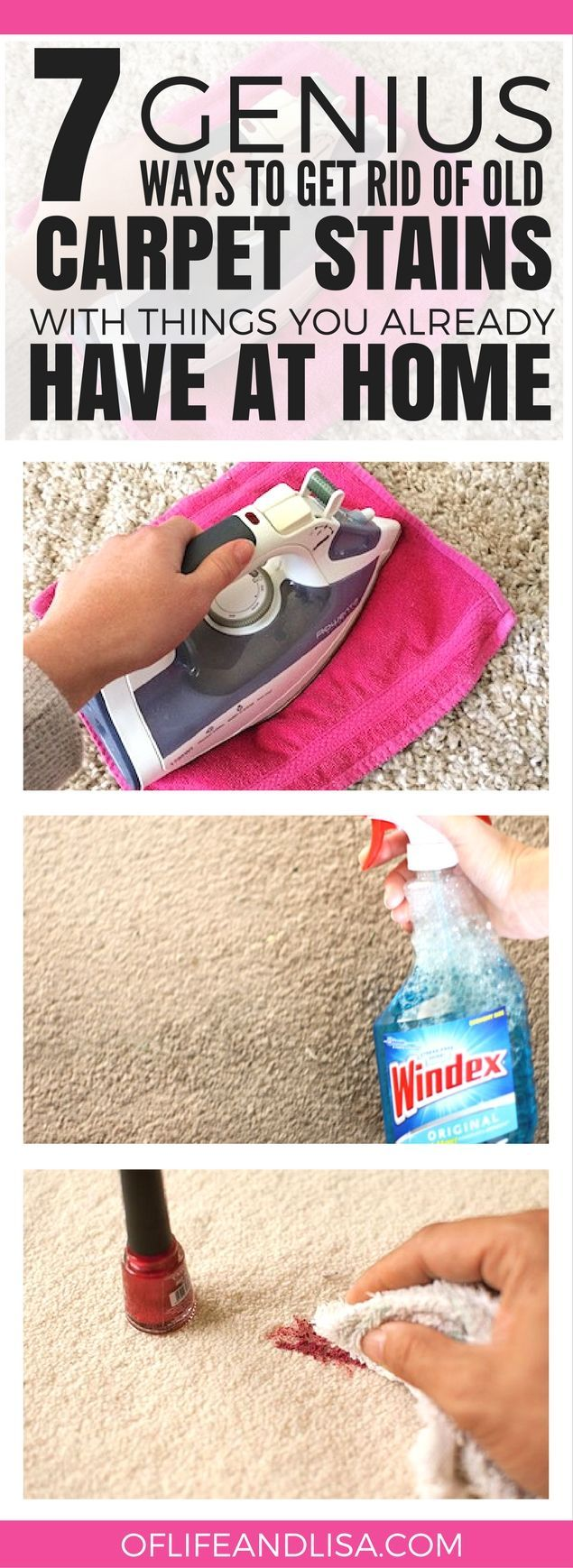 GET RID OF ALL THOSE PESKY CARPET STAINS WITH THESE SIMPLE HACKS THAT ACTUALLY WORK #home #cleaning #lifestyleblog