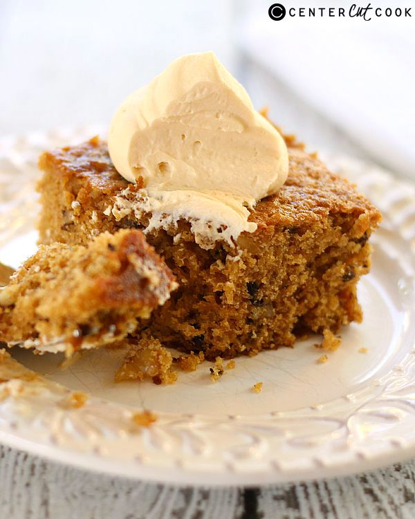 walnut cake with caramel whipped cream muffins cakes treats desserts ...