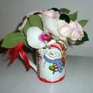 Cana portelan OM de zapada cu flori
