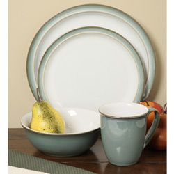 @Overstock.com - Denby Regency Green 16-piece Dinnerware Starter Set - Dress up any table with a dinnerware starter set from DenbyCasual dishes are available in classic regency green color option16-piece set includes four each: mugs, bowls, salad plates and dinner plates  http://www.overstock.com/Home-Garden/Denby-Regency-Green-16-piece-Dinnerware-Starter-Set/4287560/product.html?CID=214117 $235.99