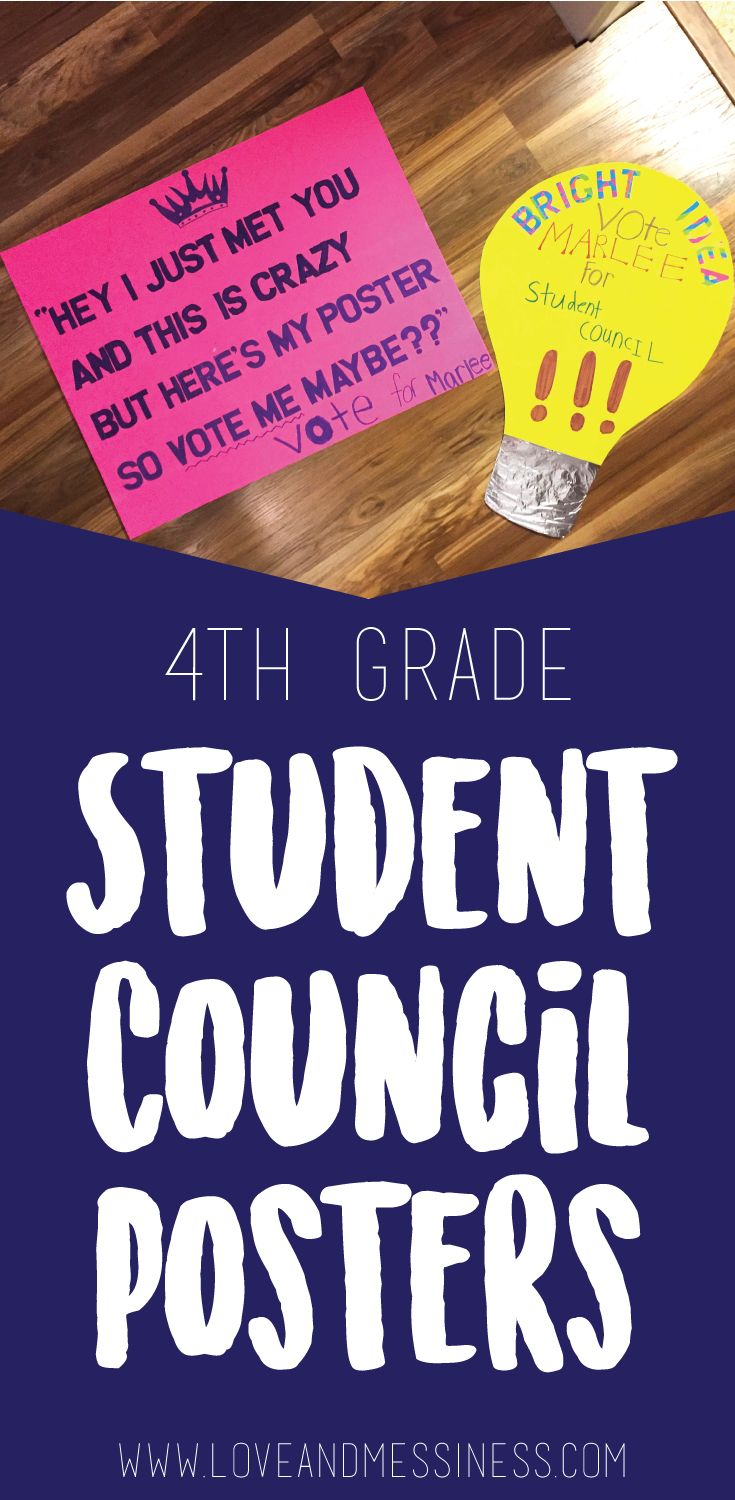 Marlee is running for 4th Grade Student Council. Click here to see how we got creative while making her homemade election posters!