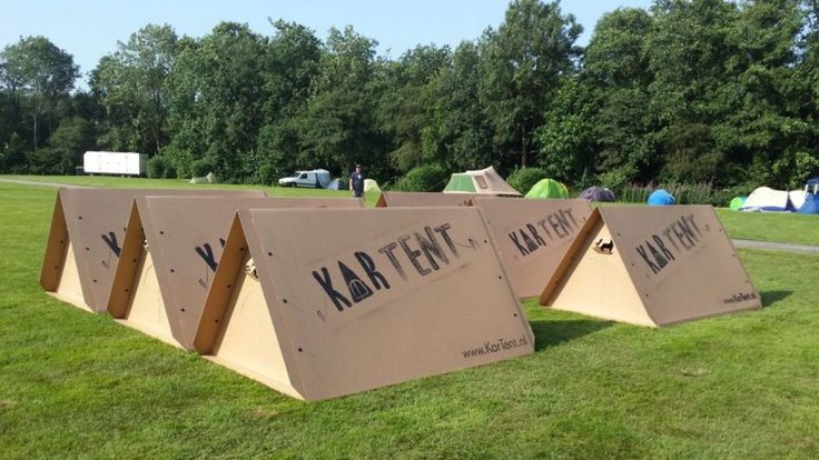 Dutch students have created a featherlight throw-away tent for temporary use at festivals.