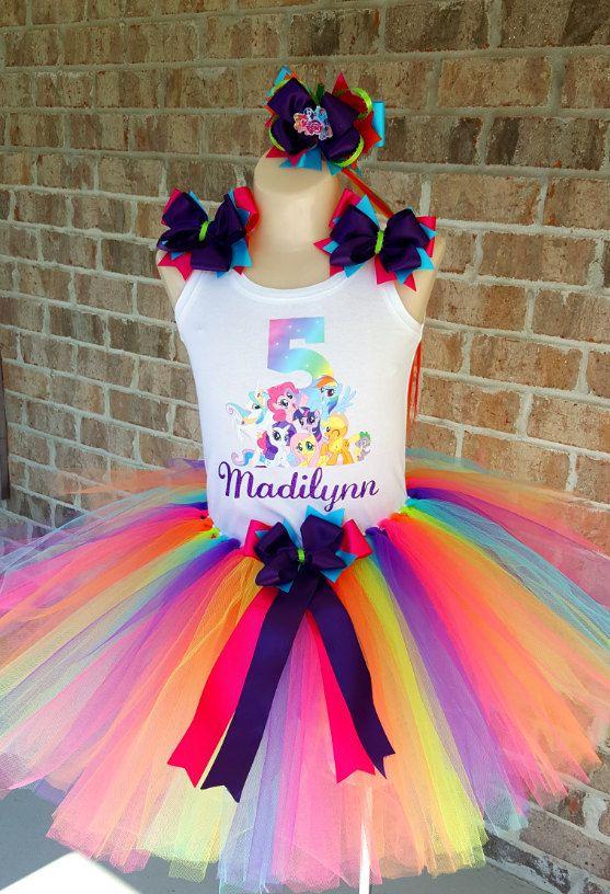Mi pequeño Pony arco iris tutú conjunto por TwinkleTusTutus en Etsy