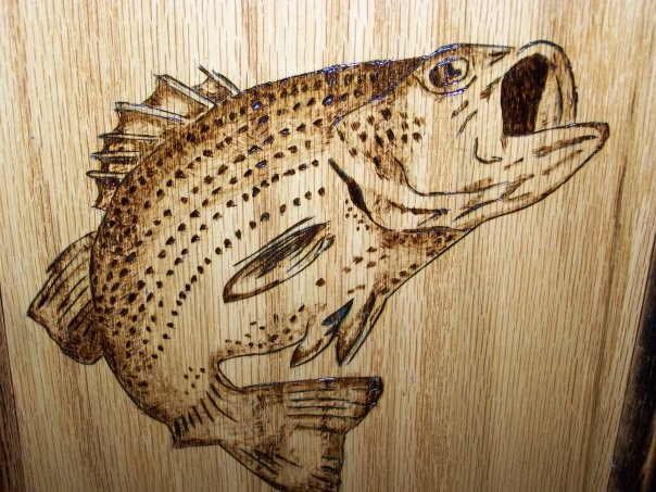 Wood burning stencils pinterest fish nice and bass