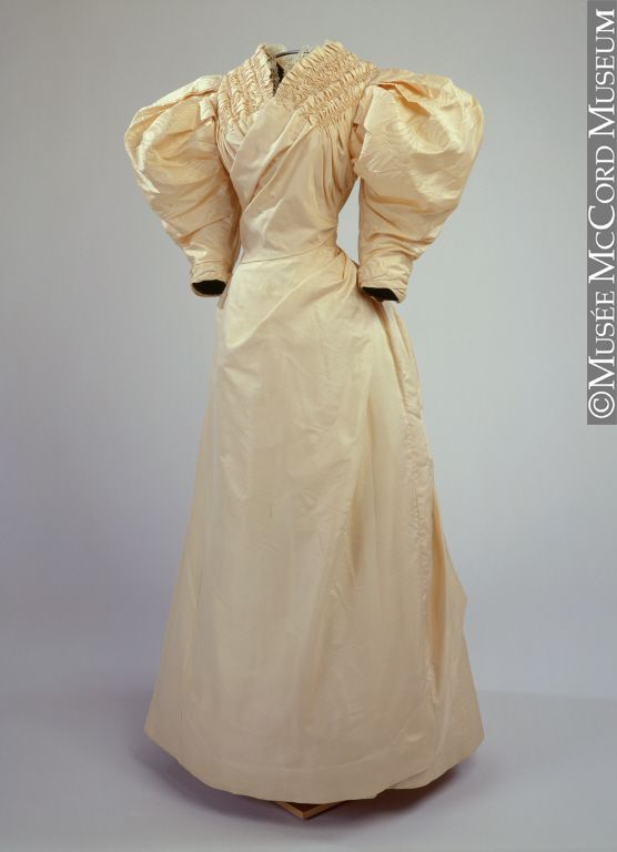 Wedding dress About 1890, 19th century