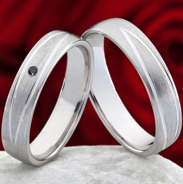 Trauringe Eheringe Verlobungsringe Silber schwarzen Swarovski Zirkonia  SZS100    eBay