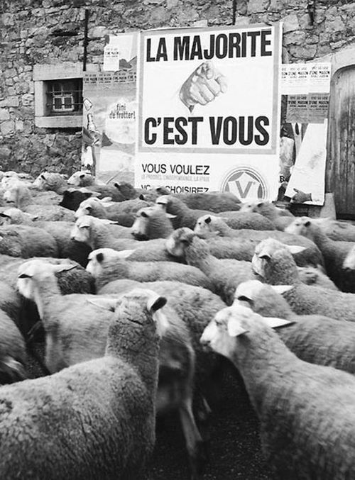 "You are the majority"" by the French photographer and poet René Maltête"