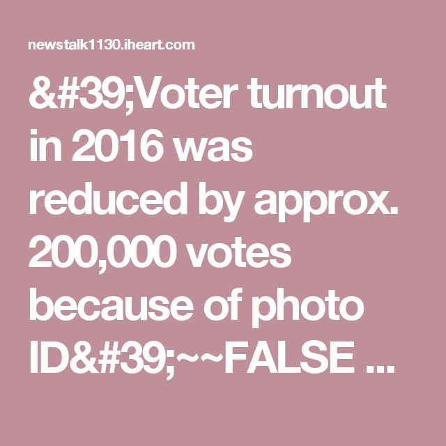 'Voter turnout in 2016 was reduced by approx. 200,000 votes because of photo ID'~~FALSE TAMMY!  | The Jay Weber Show | News/Talk 1130 WISN