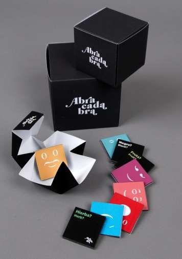 Typographic Treat Packaging : abracadabra chocolate branding