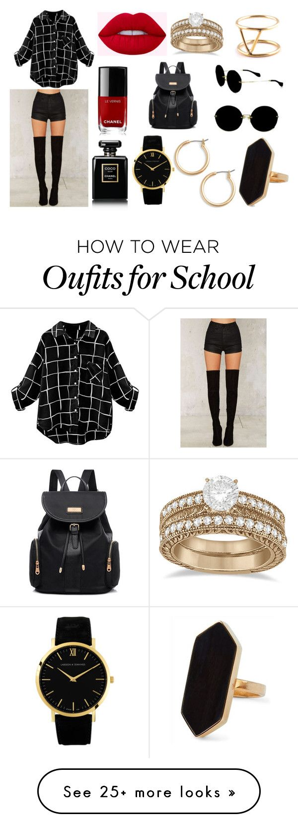 """""""Sin título #1877"""" by sweetblack-21 on Polyvore featuring OneTeaspoon, Chanel, Nordstrom, Jaeger, Miu Miu, Allurez and SOKO"""