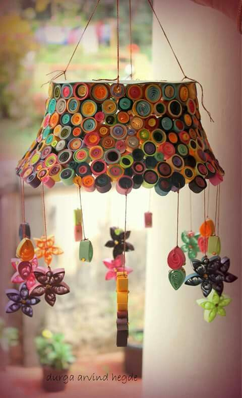 Quilled Diwali lantern