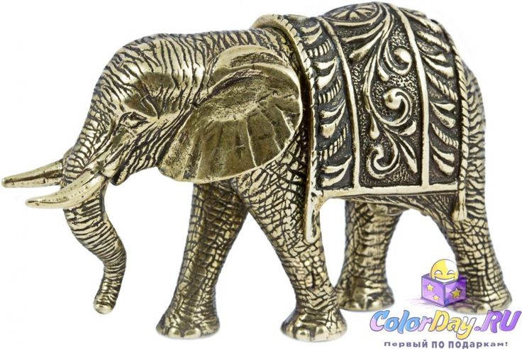 """статуэтка """"Важный Слон"""" (бронза)"""