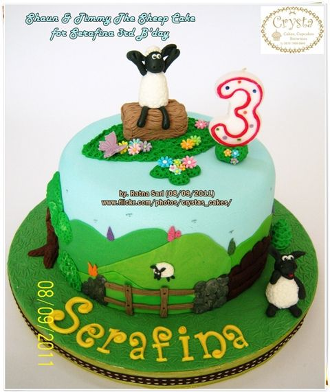 Shaun n Timmy The Sheep Cake for Serafina 3rd B'day | Flickr - Photo Sharing!
