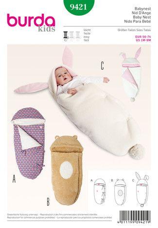Schnittmuster: Babynest - Download - Kids - Schnitte Katalog - burda style