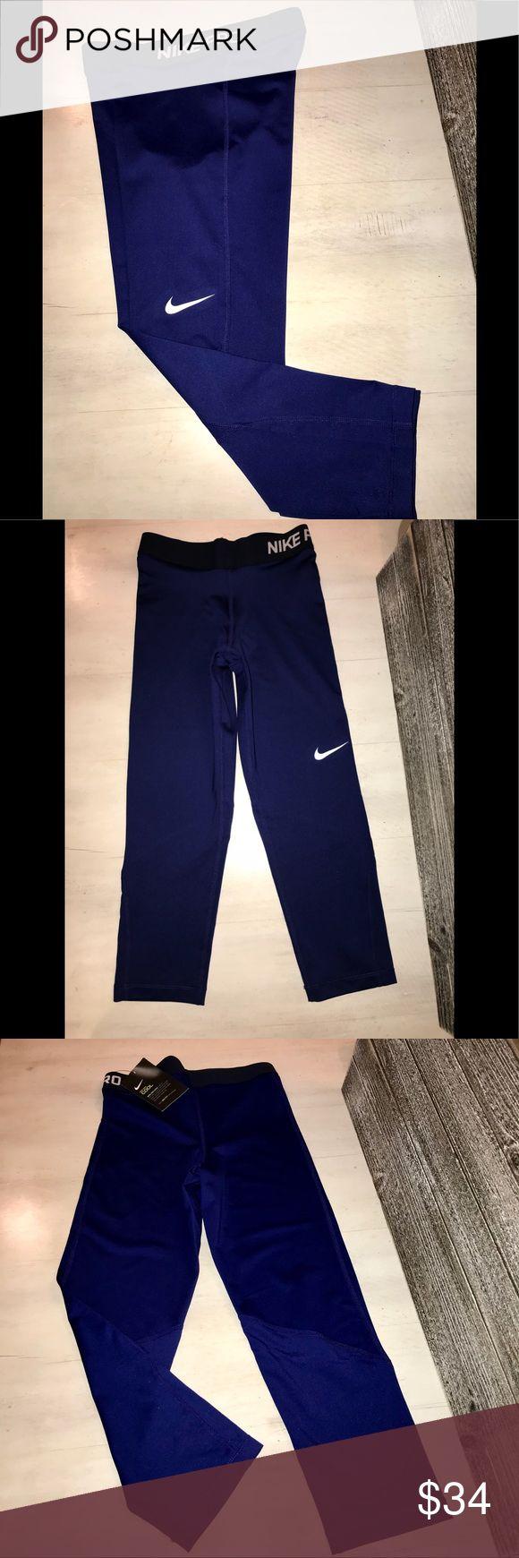 NWT! WOMENS NIKE PRO COOL DRI-FIT TR CAPRI'S ! NWT !!!  NIKE PRO COOL women's  training leggings with elastic waistband   SIZE: XS  COLOR:   BEAUTIFUL ROYAL BLUE ! Nike Pants Leggings