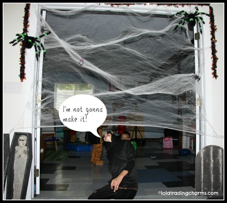 ickey sticky spider web limbo halloween game for kids - Halloween Games For Kids Party At School