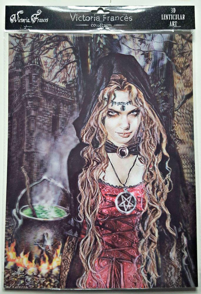 Brand New Licensed 3D Lenticular Victoria Frances Cauldron Witch Gothic Art