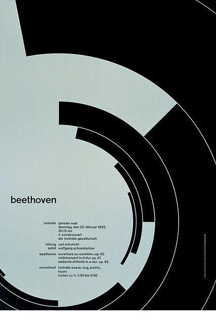 Josef Müller–Brockmann / Beethoven [1955] — #Poster