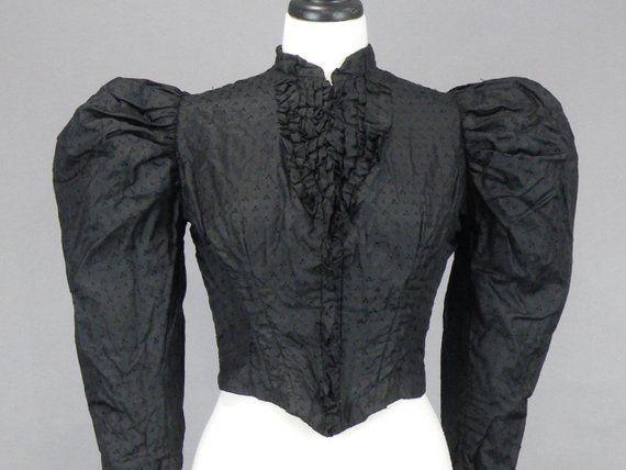 1890 Black Bodice Bust 32