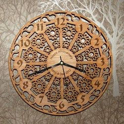 Laser cut MDF Lace Wall Clock