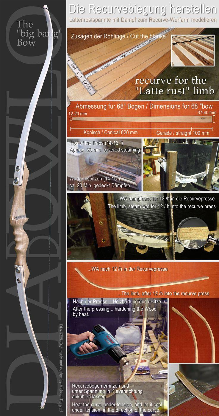 Bogen Bauen Making bows, Werkbank ...