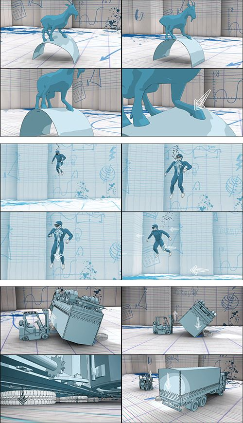 3D Animation in 2D Looks about different accidents